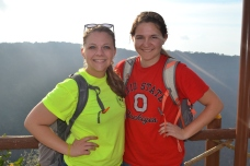 Maddy and me at the crater after the CDI one day.