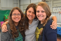 With Meli and Irene, two members of the youth group that serve as translators.