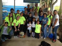 After a day of work at the CDI with the local helpers and a team from Bay Area Community Church in Maryland.