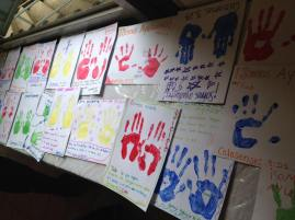 Crafts the kids worked on when a missions team was teaching them about being good helpers!
