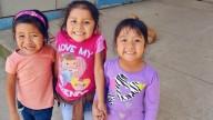 Marjori, Marielos, and Allison, three little girls in the CDI program in Guayabo.